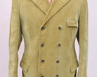 RARE - Men's Vintage 60s Carnaby Street Dandy Double Breasted Corduroy Jacket • Male by Paul