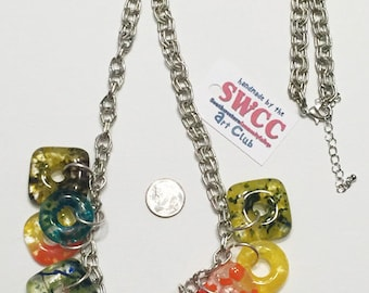 Glass Bead Necklace Multi-colored