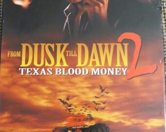 From Dusk Till Dawn 2 Texas Blood Money VHS Tape Horror Quentin Tarantino