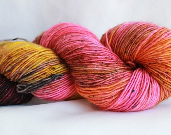 POTION - ( Speckled Stellina)  super wash merino single sock (100 grams) 400 yds free shipping