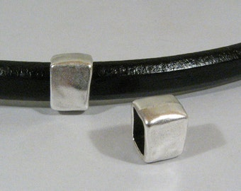 Regaliz Rectangle Spacers - Antique Silver - SP1 - Choose Your Quantity
