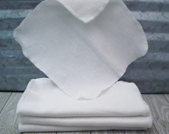 Reusable Mini Towels - Eco Friendly Baby Wipes - Washable Tissue Replacement - Birdseye Cotton Towels - Reusable Cloth Paper Towels