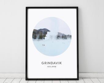 Iceland Print, Printable Art, Wall Art Print, Travel Poster, Home Decor, Photography Print, Instant Download, Blue Lagoon Print