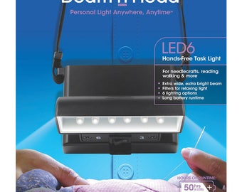 SALE Beam n Read LED6 Personal Hands free Light for crafting sewing quilting traveling