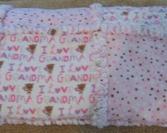 I Love Grandma Rag blanket