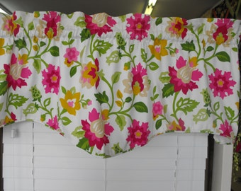 Shaped valance, Window valance, Modern valance, M valance, Window treatment, Lined valance, Cornice valance, Window decor,