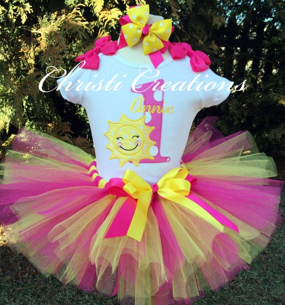 Baby Girl 1st Birthday Tutu You Are My Sunshine Birthday