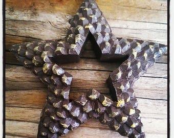 Star imitation pinecone for Christmas, scrapbooking or Christmas decoration tree decoration.