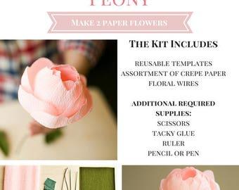 Paper Flower Kit: Peony