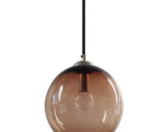 Tea Gumball Hanging Art Glass Pendant Diffuser Globe Light by Rebecca Zhukov