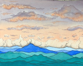 PRINT - Peaceful sunset