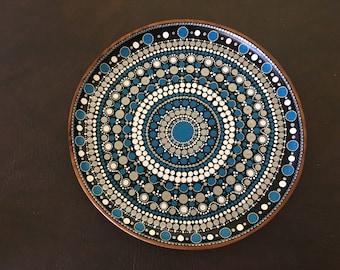 Blue Mandala Platter E3