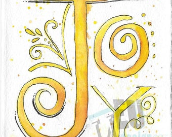Watercolor Word Series – JOY