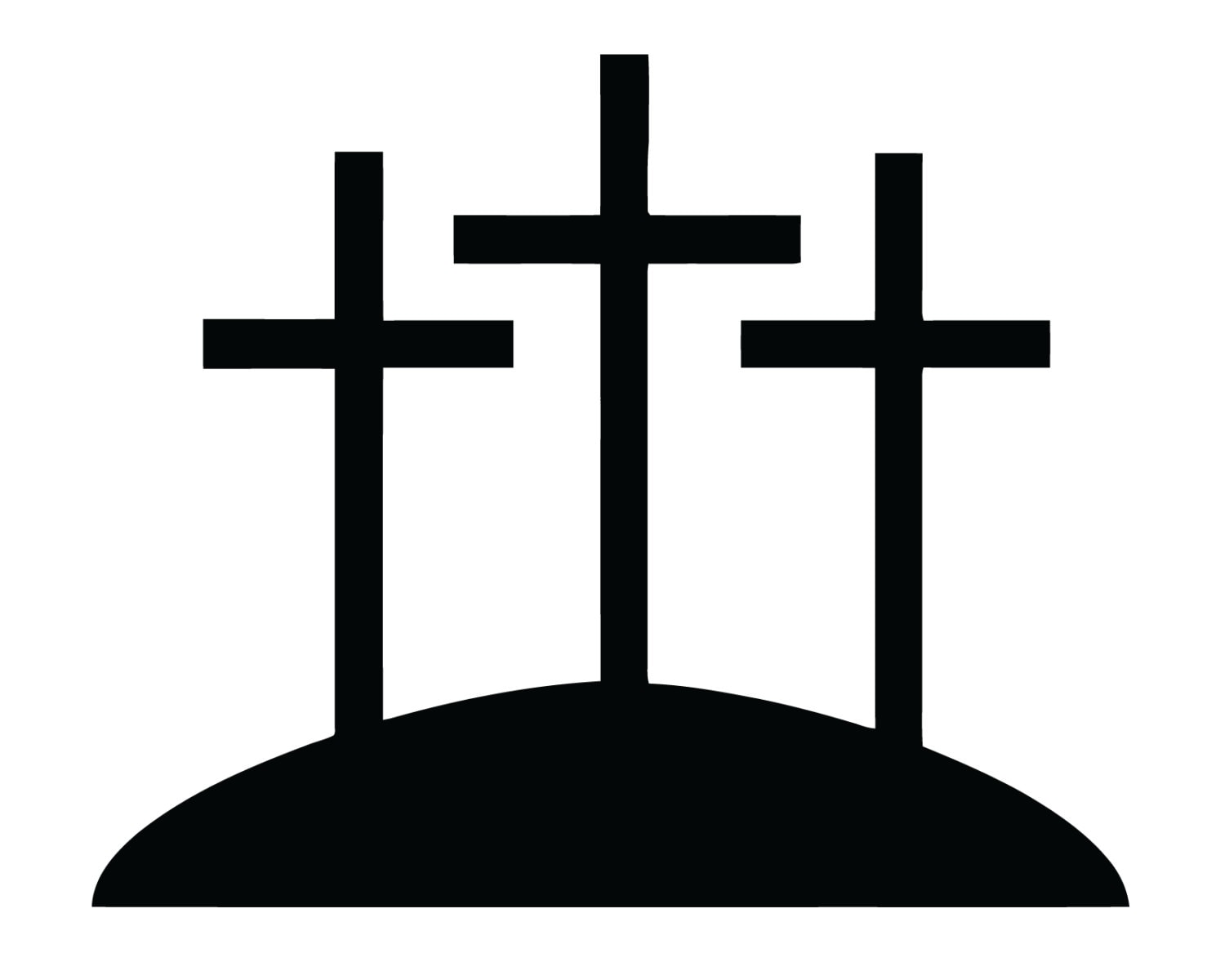 Three Crosses Decal 3 Crosses Sticker Christian 3 Cross