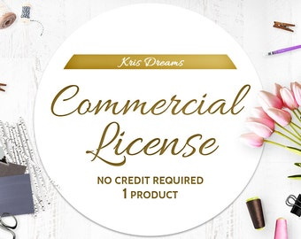Commercial License No Credit Required-For a SINGLE Product-