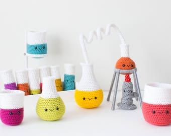 PATTERN ONLY: Crochet Chemistry Set, Amigurumi Chemistry Set, Chemistry Set, Crochet Pattern, PDF Pattern, Amigurumi Pattern