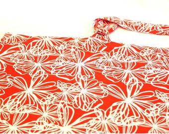 Retro Red Flowers Nursing Cover