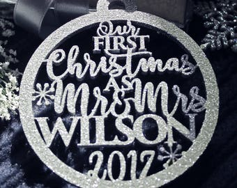 Christmas Ornaments Our First Christmas Ornament First Christmas Gift Ornament Personalized Christmas Ornaments Personalized Wedding Gift 07