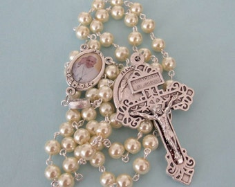 Pope Francis Rosary, Jubilee Year of Mercy *Catholic,Holy Father,Indulgence,chaplet,prayer beads,cross,crucifix,Christian,special occasion