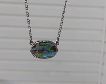 Abalone reversible necklace