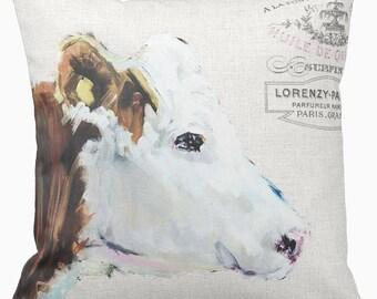 Pillow Cover Farmhouse Style Cow Pillow