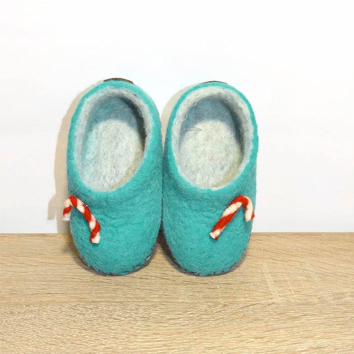 Home Kids Slippers Felted Slippers Wool Slippers Child