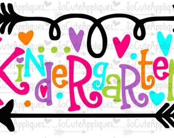 Kindergarten svg, School svg, back to school, school cut file, teacher svg, svg file, school shirt, 1st day of school, socuteappliques