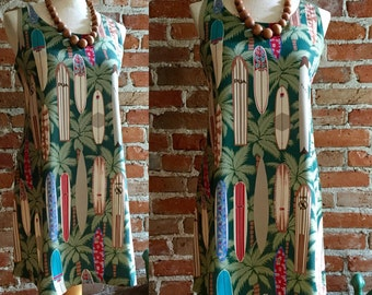 Women's Vintage/Retro Surfboard Day Dress