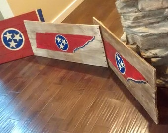 State of Tennessee - outlined flags.