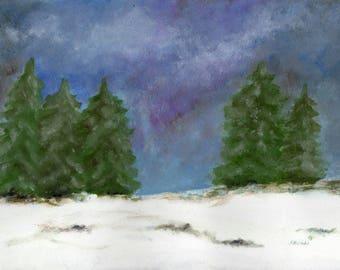 Winter scenery original oil painting