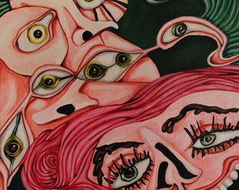Interest-9x12 inch Original Acrylic Painting