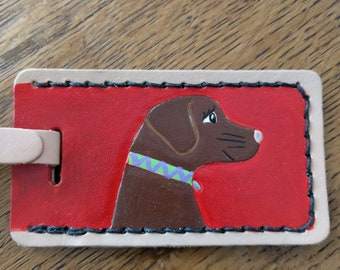 Luggage Tag with Chocolate Lab