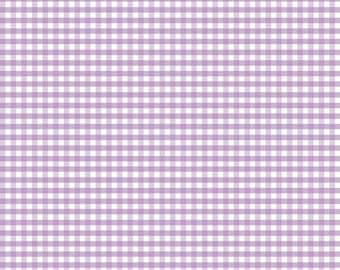 "Riley Blake lavender gingham fabric 1/8"" 1/2 yard or yardage small gingham mini gingham"