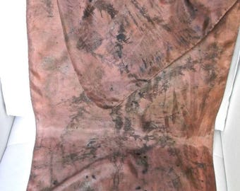 78 by contact vegetable dye silk scarf