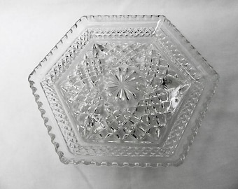 Wexford punch hexagonal shaped dish fantastic condition