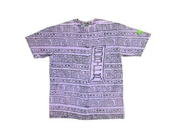 Wild 80s Baby G's Gorilla Garments Allover Print Surf T-Shirt - L