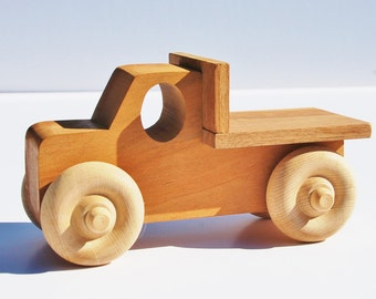 Wood Toy Truck - Wooden Toy Pick-Up Truck - Waldorf Toy