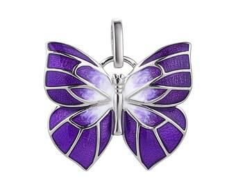 """Enamel Silver Pendant """"Butterfly"""", Butterfly, Pendant """"Butterfly"""""""