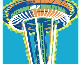 Space Needle, Space Needle poster, Seattle wall art, Space Needle, Seattle art print, Space Needle Wall Art, Wall decor, Gift, Home decor