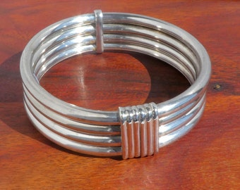 Sterling Silver Artisan Bangle