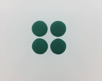 """Sale Clearance 40 Pieces  1/2"""" Round Fabric Covered Flatback in Teal"""