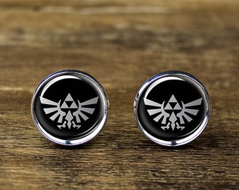 Legend of Zelda cufflinks, Triforce cufflinks, Legend of Zelda jewelry