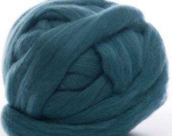 Merino Wool Top - 22.5 micron -Teal - 4 ounces