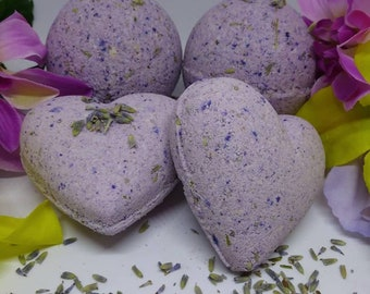 Lavender and Bergamot Bath Bombs and Relaxing Rose Patchouli Bath Bombs