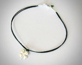 Clover bracelet sterling silver, four leaf clover bracelet, irish, luck, shamrock bracelet, St Patricks Gift, ready to ship