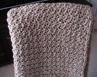 Ecru Afghan, Throw Blanket, Sofa Throw, Crocheted Afghan, Crocheted Blanket, Housewarming Gift, Hostess Gift