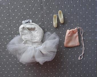 Vintage Barbie Silver Lame Ballerina Tutu Incomplete Set