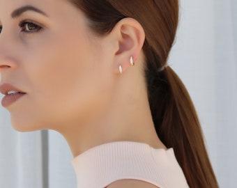 Tiny hoop earrings/ Dainty silver earrings/ Gold hoops/ Silver hoops/ Small earrings/ Small hoops/ Silver earrings