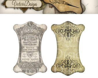 Ribbon and Lace Holders printable images instant download digital collage sheet VD0550