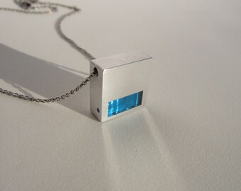 Modern Necklace – Contemporary Jewelry – Chisel Work Pendant